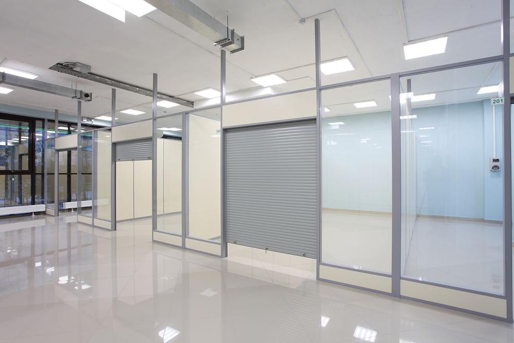 Примеры применения алюминиевых офисных перегородок 2